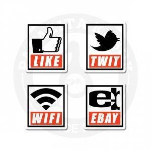 Наклейки Социальные сети<br>