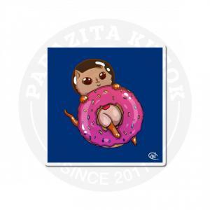 Котик с пончиком в космосе<br>