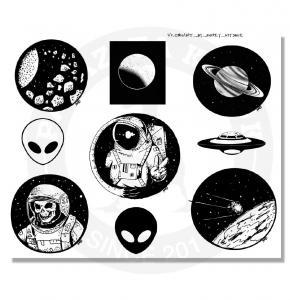 Наклейки Космос<br>