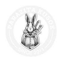 Кролик-воин ч/б<br>