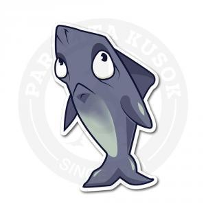 Синяя акула идет и грустит<br>