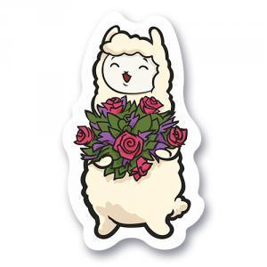 Милая альпака с цветами<br>