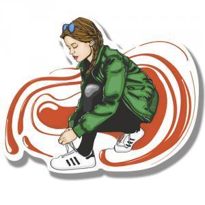 девушка и шнурки<br>