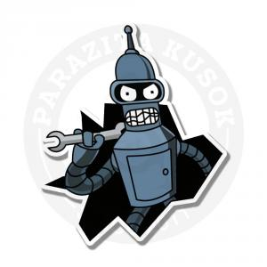 Наклейка Бендер / Bender Bending Rodriguez Futurama<br>