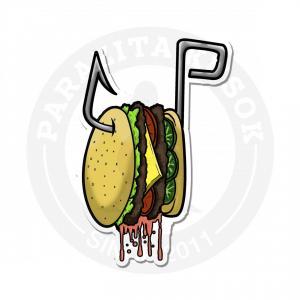 бургер на крючке<br>