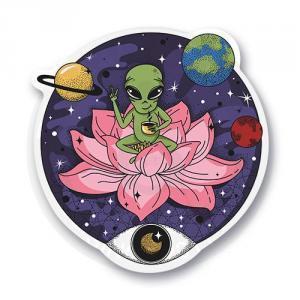 Стикер Инопланетянин буддист<br>