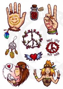 Наклейки Peace<br>