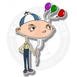 Мальчик с шариками<br>