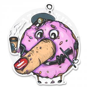 Наклейка  Мистер Пончик Полисмен<br>