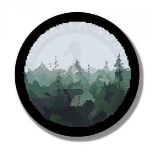 Наклейка Пиксель Лес<br>