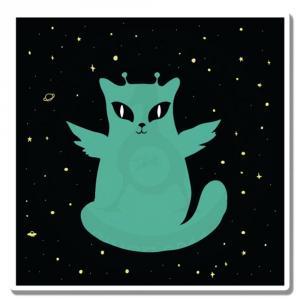 Бирюзовый котик с антеннками<br>
