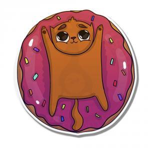 Наклейка Котик Пончик<br>