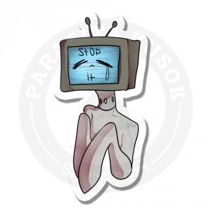 Пони-телевизорвиниловые наклейки стикеры Parazita Kusok<br>