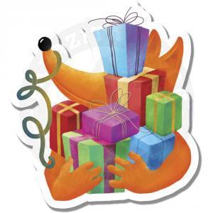 Лис Лучик с подарками<br>