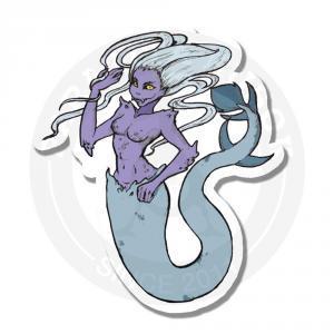Фиолетовая загадочная русалка<br>