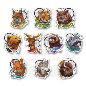 Набор стикеров Животные-индейцы<br>