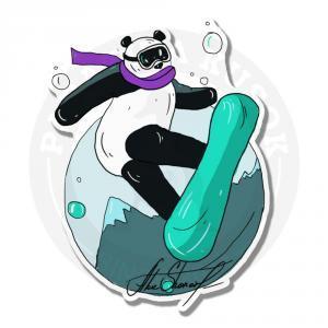 Панда на сноуборде<br>