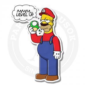 Наклейка Гомер-Марио<br>