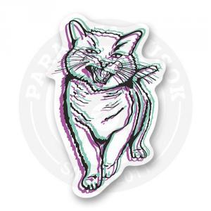 Стикер Двоящийся кот<br>
