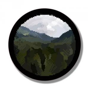 Наклейка Пиксель Горы<br>