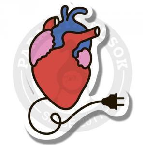 Сердце с проводом<br>