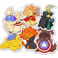 Наклейки Животные супергерои<br>