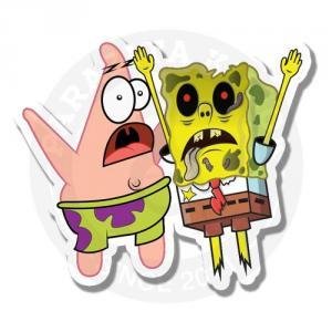 Спанч-боб и Патрик - зомби версия<br>