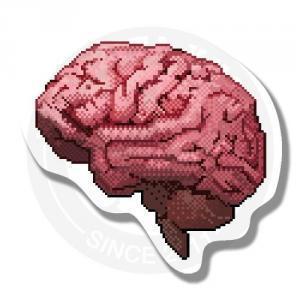 Наклейка Пиксельный мозг<br>