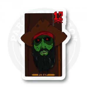 Наклейка Зомби Пират<br>