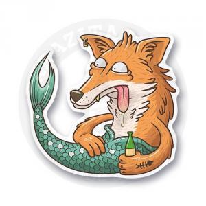 Drunk Fox-Mermaid<br>
