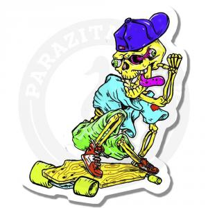 Скелет на скейте<br>