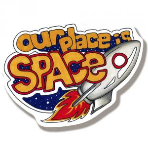Наклейка Космос Наш/Sticker Our place is Space<br>