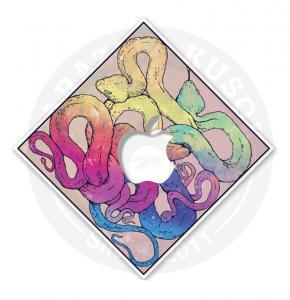 Наклейка на Macbook Космические кислотные змеи<br>
