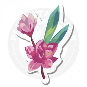 Наклейка Розовый цветок<br>