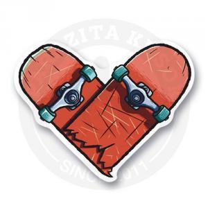 Сломанный скейт-сердце<br>