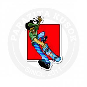 На скейтборде<br>