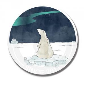 Медведь любуется на северное сияние<br>