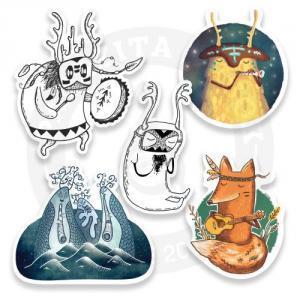 Наклейки Лесные Музыканты/Stickers Forest Musicians<br>