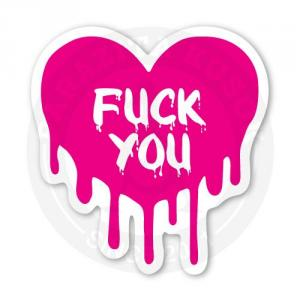Наклейка сердце Fuck you<br>