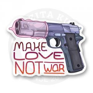 Стикер Make love, note war<br>
