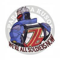 Солдат 76 из OverwatchНаклейка Overwatch Solder 76<br>Наклейки Parazita Kusok<br>