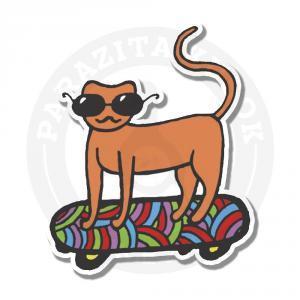 котик на скейте<br>