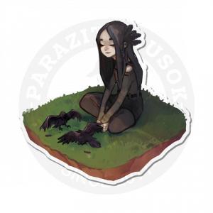девочка на поляне<br>