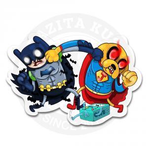 Битва титанов: Фин и Джек в костюмах Бэтмена и Супермена<br>
