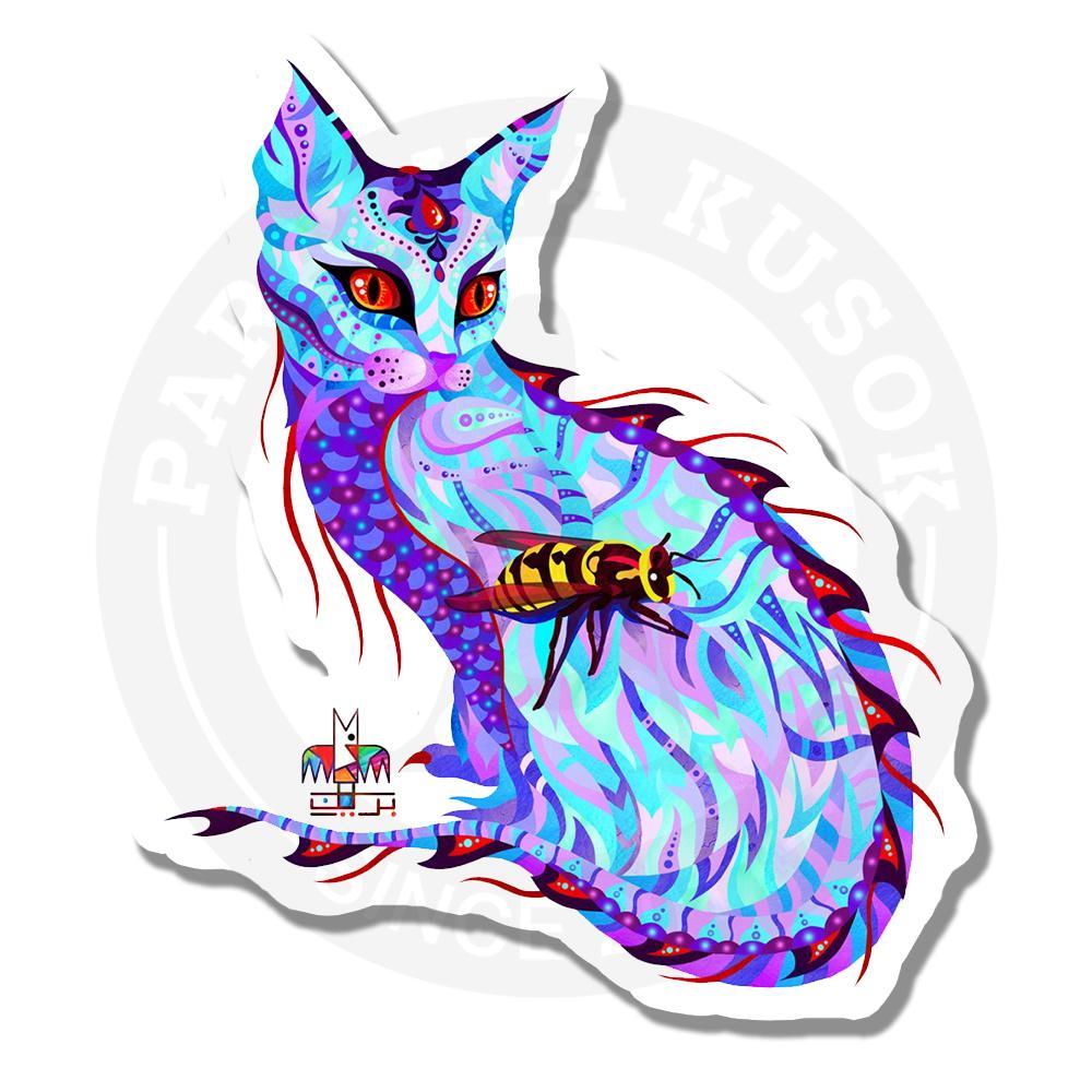 Белый котВиниловые наклейки Parazita Kusok<br>Наклейка кот<br>