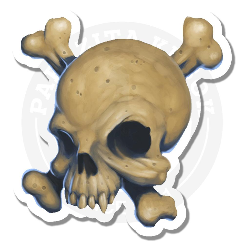 Пиратский черепSkull sticker<br>