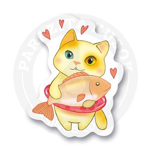 Котик с рыбкой<br>