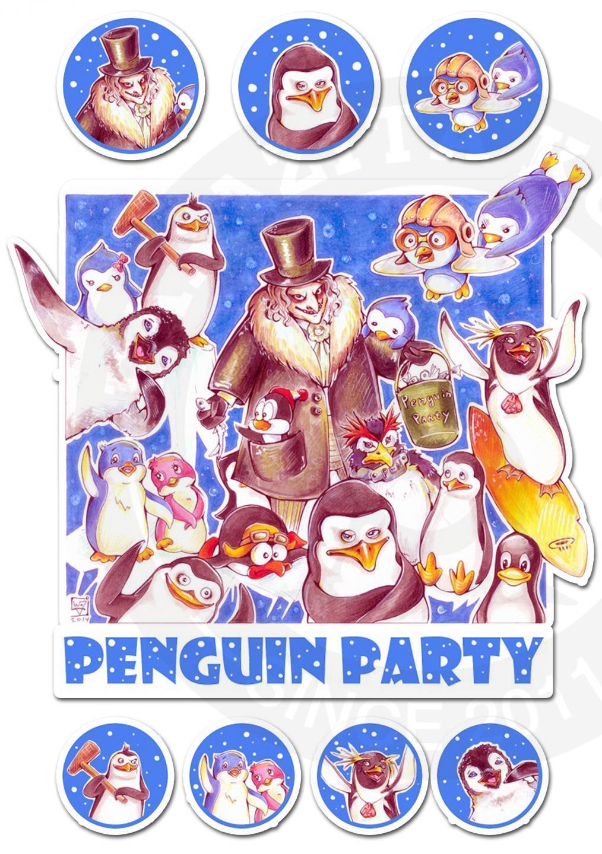 Наклейки Пингвины<br>