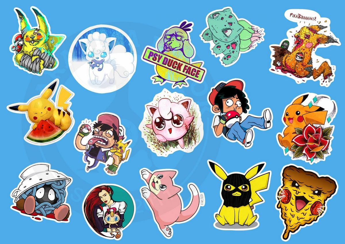 Наклейки Покемоны (Pokemon)Виниловые наклейки покемон<br>Магазин стикеров Parazita Kusok<br>