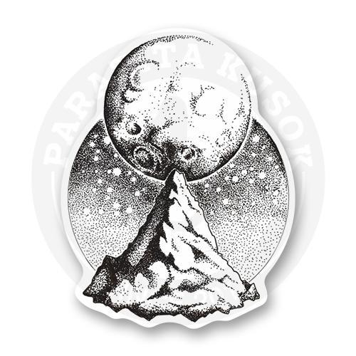 Стикер Луна и гора<br>